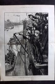 ILN 1880 LG. Presentation of a Life-Boat by the Cadets Thames Nautical Worcester